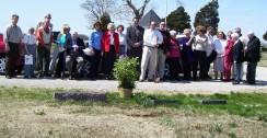 Georgia Mae's burial service