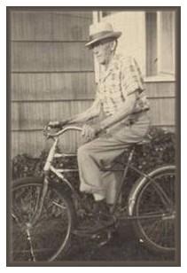My grandpa riding bike in his eighties