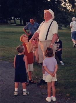 Uncle Jim entertaining the kids